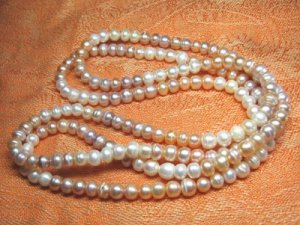 Fresh water 7mm multicolour pearl Necklace ,Great price!don't miss!
