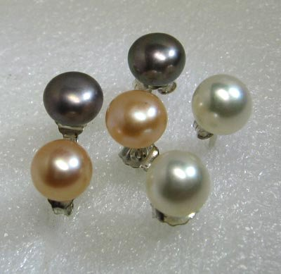 Fresh water pearl earrings in .925 sterling silver,Great price!don't miss!