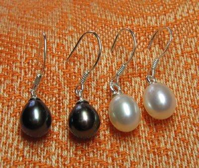 Fresh water pearl dangle earrings in .925 sterling silver,Great price!don't miss!