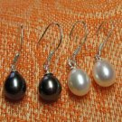 Fresh water pearl dangle earrings in .925 sterling silver,Great price!don't miss!