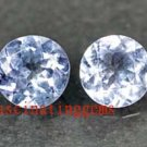 13.35CT PAIR GLISTENING ROUND BLUE ZIRCON