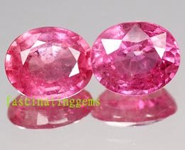 13.15CT PAIR BEAUTIFUL CHARMING PINK OVAL ZIRCON