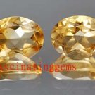 10.05CT PAIR STUNNING YELLOW OVAL ZIRCON