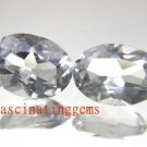 10.05CT PAIR BEAUTIFUL CHARMING WHITE OVAL ZIRCON