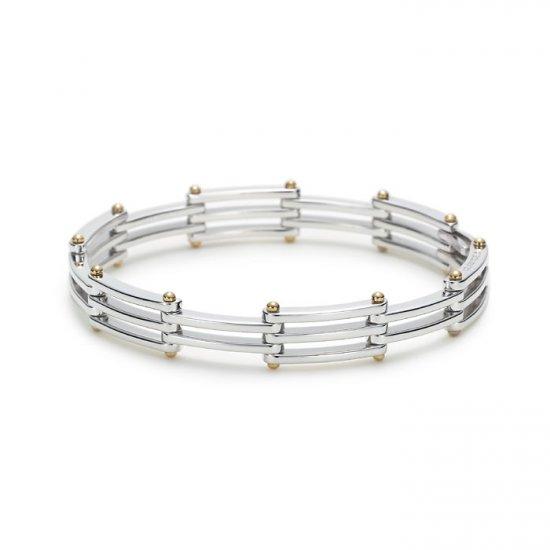 Unique 0.925 sterling silver bracelet bangle