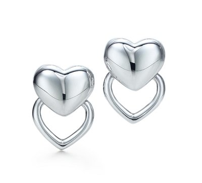 Amazing Sterling new style double heart earrings