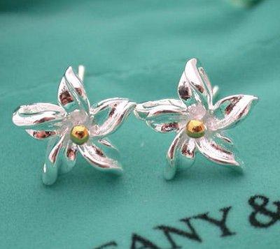 Amazing Sterling new style redbud flower dangling earrings