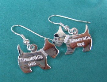 Amazing Sterling new style COCO dog dangling earrings
