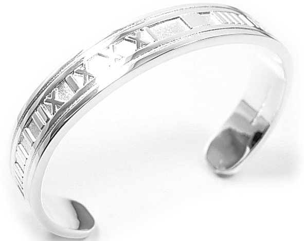 Beautiful Sterling new style broad Rome bracelet bangle