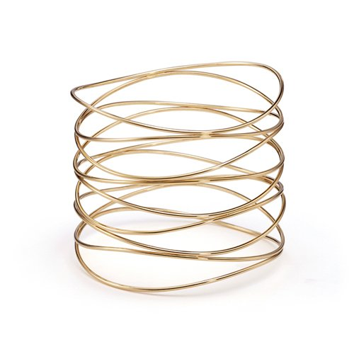 Beautiful Sterling countless ties bracelet bangle