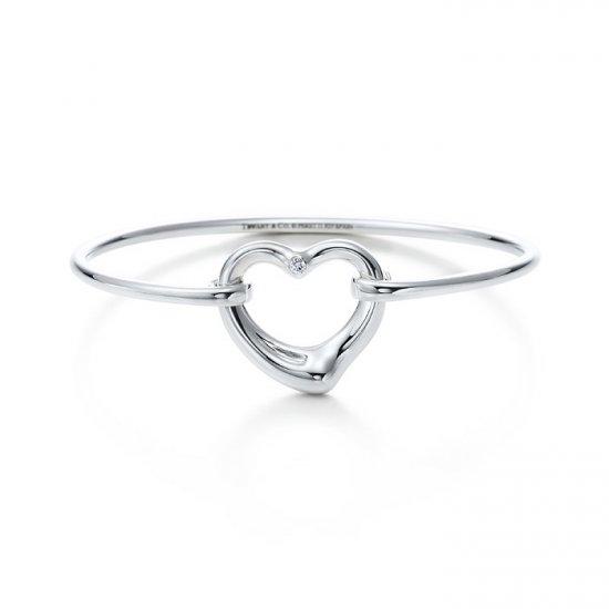 Beautiful Sterling heart bracelet bangle