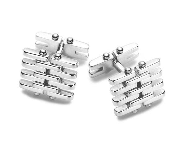 Beautiful Sterling silver Chain cuff button jewelry