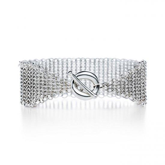 Beautiful 925 Sterling silver  meshy bracelet,new arrival!