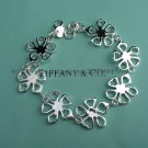 Beautiful 925 Sterling silver  four leaves grass bracelet,new arrival!