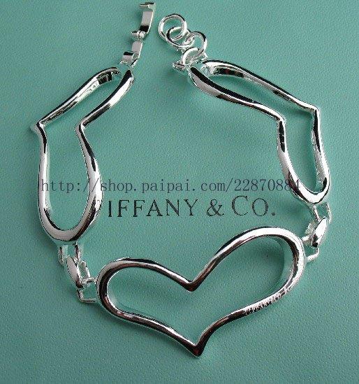 Beautiful 925 Sterling silver  heart bracelet,new arrival!