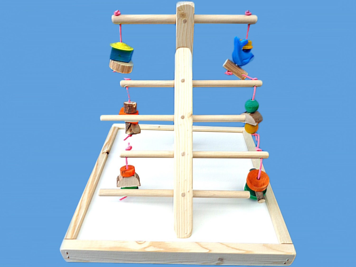 Ladder play gym for cockatiels , conures , love birds etc.