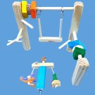 cage top bird gym with toys,swing,little guy-small birds