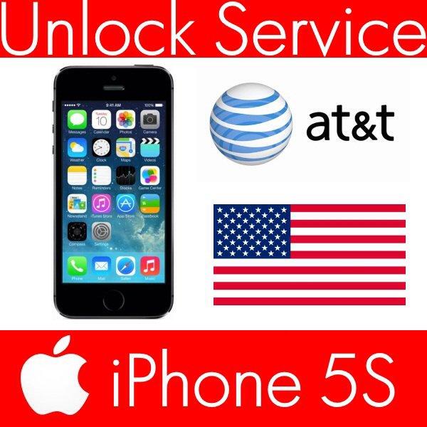 Unlock Service Apple iPhone 5S AT&T ( ATT Factory Unlock ) Clean IMEI 2-7 days