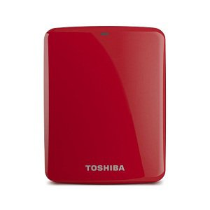 Toshiba Canvio Connect 1TB Portable Hard Drive, Red (HDTC710XR3A1)
