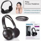 Genuine PHILIPS SHC1300 Wireless Hi-Fi Stereo Audio IR Headphones Earphones TV