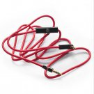 RED 3.5mm 1/8 Audio Cable Lead Cord w MIC For Beats By Dr. Dre On-Ear Headphone