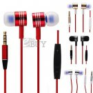 3.5mm In-ear Stereo Headphone Earphone with Mic Volume Control for Samsung