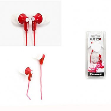 Panasonic RP-HJE120-R Inner Ear Earbud RPHJE120 Red/GENUINE