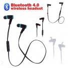2014 Bluetooth 4.0 Wireless Sweat-proof Earbuds Headset In-Ear Headphone Black
