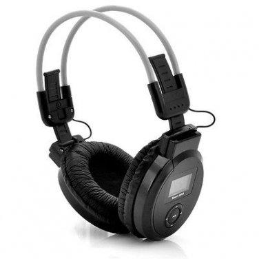 Folding Headphone - MP3 Player, FM Radio, Micro SD SD Card Slots