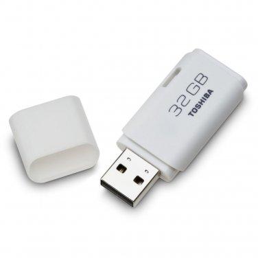 Toshiba TransMemory 32 GB USB 2.0 Flash Drive (PFU032U-1ACW) White Portable Storage Memory Drive
