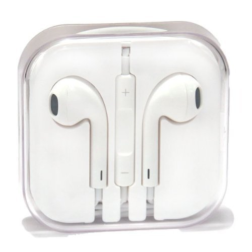 Pine Original Apple OEM Earpods iPod iPhone 5, 5s, 6, 6s Plus White Earbud Earphone Headset With Mic