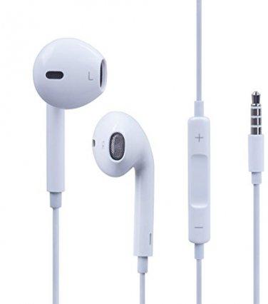 New White Apple Earpods Earbuds Earphones Headset Volume Key w/Mic For iPhones iPads iPods + MP3