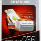 Samsung EVO Plus 256GB MicroSDXC UHS-I Card 4K Ultra HD Transfer Flash TF Micro SD adapter Class 10
