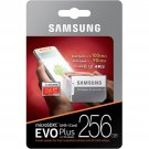 Samsung EVO Plus 256GB MicroSDXC UHS-I TF Transfer Flash Memory Card 4K Ultra HD Micro SD Adapter