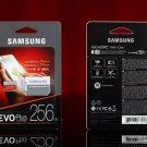 Samsung EVO Plus 256GB MicroSDXC UHS-I Transfer Flash Card U3 4K Ultra W/ Micro SD Adapter Class 10