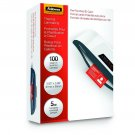 Fellowes 52016 Glossy Pouches - ID Tag punched, 5 mil, 100 pack - Laminating