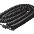 Steren Coiled Curly Phone Handset Cable 25FT Black for Polycom VoIP SoundPoint