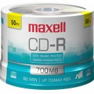Maxell 648250 CD Recordable Media - CD-R - 48x - 700 MB - 50 Pack Spindle -120mm
