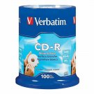 Verbatim 94712 CD-R 700MB 52X with Blank White Surface - 100pk Spindle WHITE