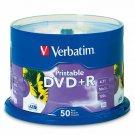 Verbatim 95136 DVD+R 4.7GB 16X White Inkjet Printable with Branded Hub - 50pk
