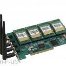 ATCOM AX4G-4 4 Channels GSM GPRS Cell Asterisk PCI Card 4 SIM Modules w Antenna