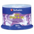 Verbatim 97000 DVD+R DL 8.5GB 8X with Branded Surface- 50pk Spindle DVD+R Double