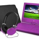 "Ematic EPD909PR Portable DVD Player - 9"" Display - 640 x 234 - Purple"