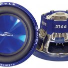 "Pyle PL-BW84 Blue Wave 8"" 600W High-powered Subwoofer -1 Pack -Blue CD P.P. Cone"