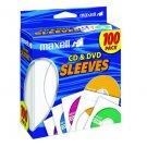 Maxell 190133 CD-402 CD/DVD Sleeves (100-Pack) - Sleeve - Slide Insert - White