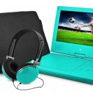 """Ematic EPD909TL Portable DVD Player - 9"""" Display - 640 x 234 - Teal"""