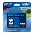"Brother TZE111 TZ Label Tape Cartridge 0.25"" Width 1 Each Black on Clear for TZ"