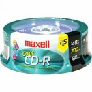 Maxell 648446 48X CD-R Media - 700MB - 120mm Standard - 25 Pack Spindle 80MIN