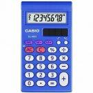 """Casio SL450S Simple Calculator - LCD - 0.7"""" x 4.7"""" x 2.9"""" - Blue - 8 Digits"""