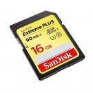 SanDisk SDSDXSF-016G-ANCIN Extreme PLUS 16 GB SDHC UHS-I (U3) - 90 MB/s Read